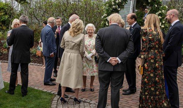 The Queen meeting Joe and Jill Biden(Image: GETTY)