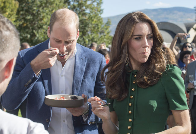 Kate and William sampled geoduck back in 2016 Photo (C) GETTY IMAGES