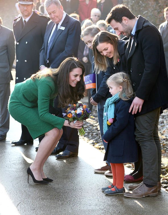 Kate visiting the hospice in Quidenham(Image: GETTY)