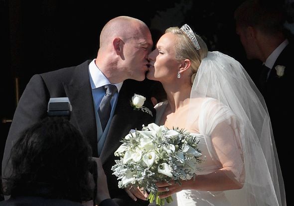 Zara and Mike tied the knot at Canongate Kirk in Edinburgh on July 20 2011(Image: GETTY)