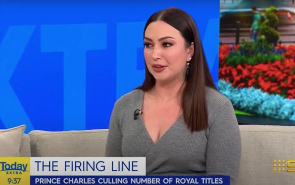 Natalie Oliveri explained Prince Charles' plans for a 'slimmed down monarchy'(Image: Today Extra)