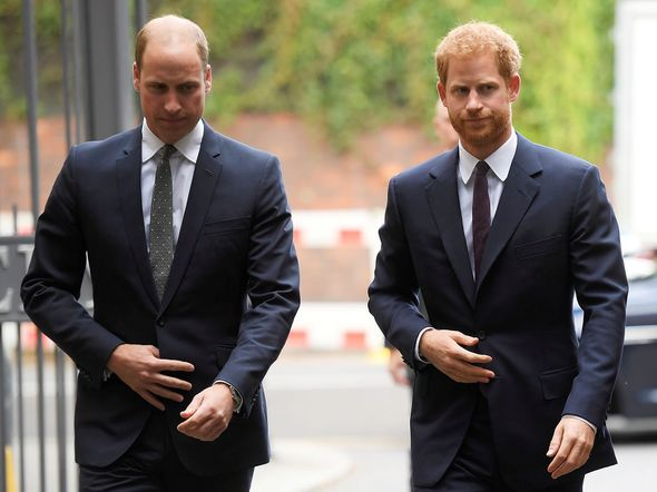Prince Harry and William still have a 'strained' relationship(Image: Getty Images)