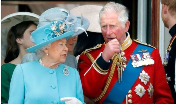 The Queen is claimed to have made Prince Charles feel 'self conscious' and 'embarrassed'(Image: Getty)
