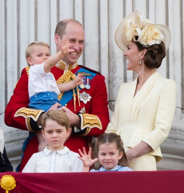 William, Kate and their three children enjoy Trooping the Colour in 2019(Image: GETTY)