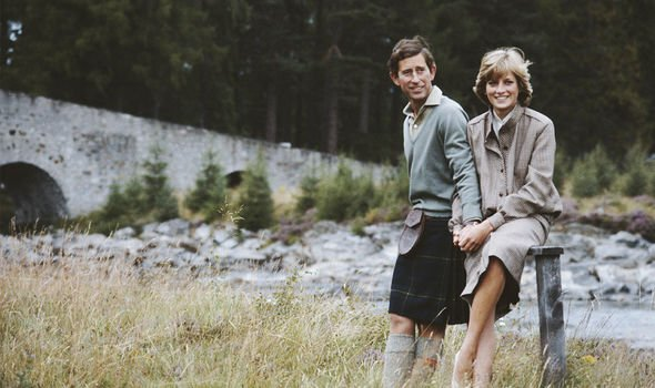 Prince Charles and Princess Diana on their honeymoon in Scotland