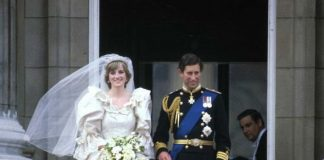 Charles and Diana on Wedding Day