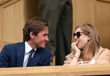 Edo Mapelli Mozzi and Princess Beatrice at Wimbledon on July 8