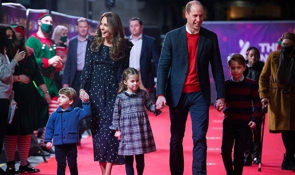 Kate, William, Charlotte, George, and Louis last Christmas
