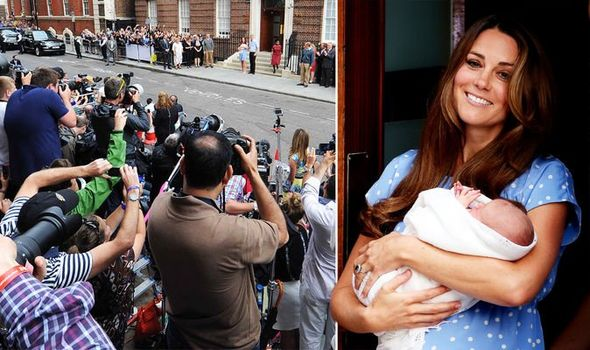Kate Middleton after giving birth to Prince George