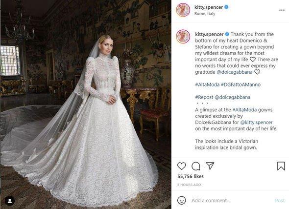 Lady Kitty Spencer wedding