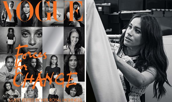 Meghan guest-edited the September 2019 edition of British Vogue