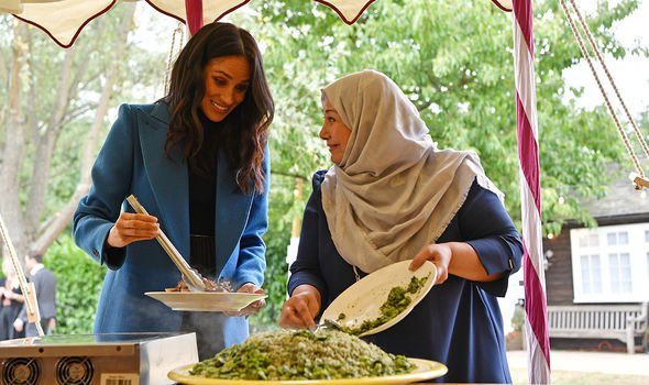 Meghan at the 2019 launch of the Grenfell cookbook
