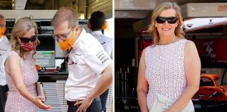 'Pretty in pink': Sophie, Countess of Wessex 'stunning' in £2,000 dress for Grand Prix