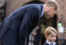 Prince William had some words of advice for his son on his first school day