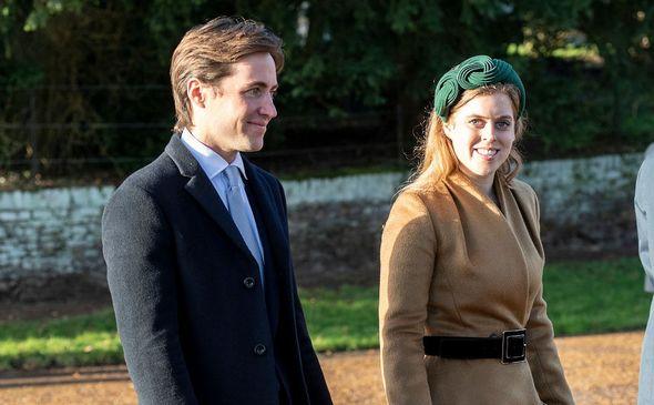 Princess Beatrice and Edoardo Mapelli Mozziconi attend the Christmas Day Church service in 2019