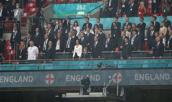 Catherine Middleton and Prince William during the Uefa Euro 2020 Final football match between Italy and England at Wembley stadium in London (England)