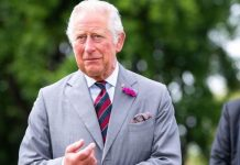 Prince Charles met the horse during his tour