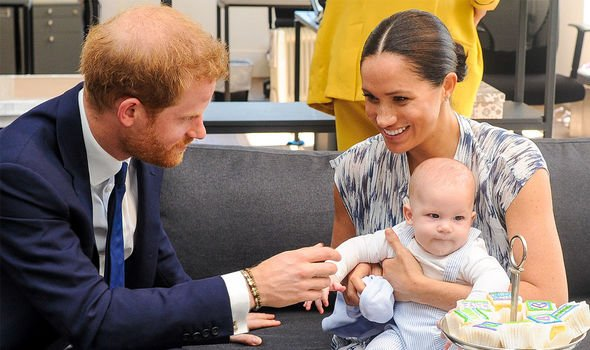 Archie: The couple with their first child, Archie