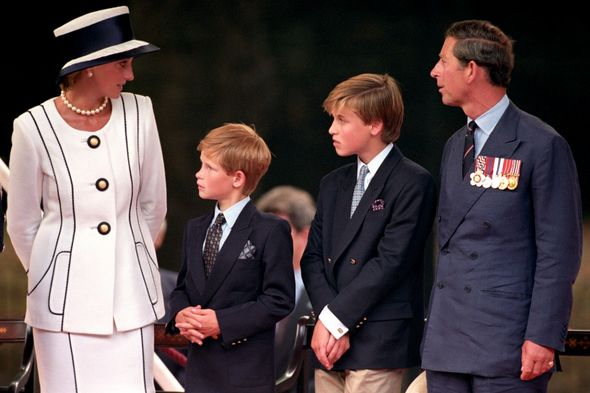 Diana, Harry, William and Charles