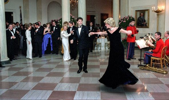 Diana: In famous gown dancing with John Travolta