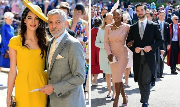 Guests at Harry and Meghan's wedding.