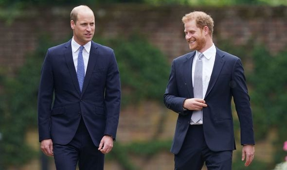 Harry walking with William