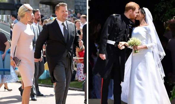 James Corden with his wife, Prince Harry & Meghan