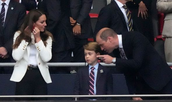 Kate and William often bend down when speaking to their children