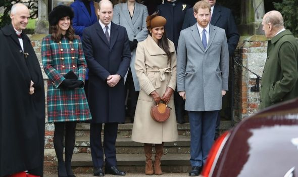 Meghan: With Harry and other royals at Sandringham