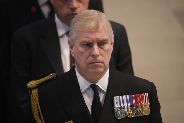 Prince Andrew at Prince Philip's funeral