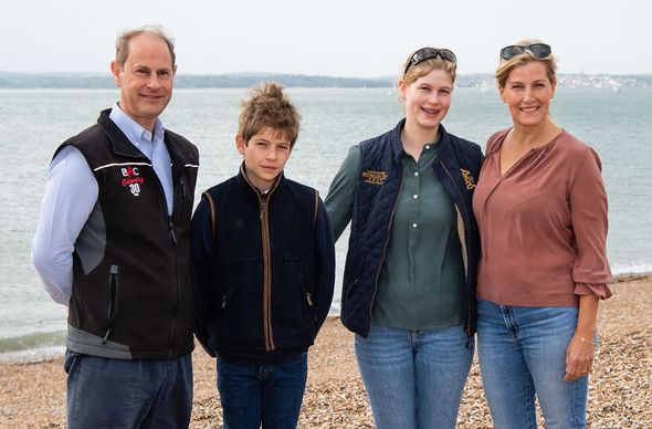 Prince Edward, Sophie Wessex, Lady Louise and James Viscount