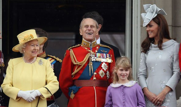Prince Philip: The young royal pictured with the Queen and Prince Philip in 2012