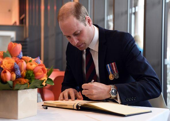 Prince William writing