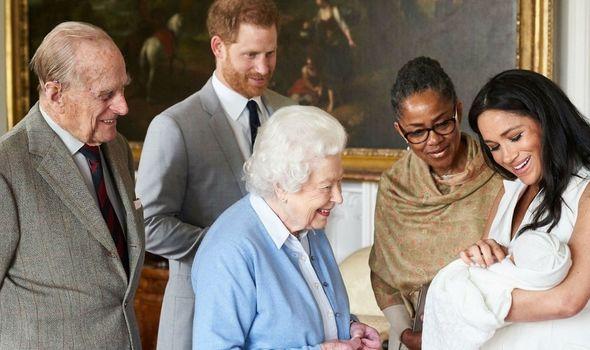 Queen: Meets great-grandson Archie