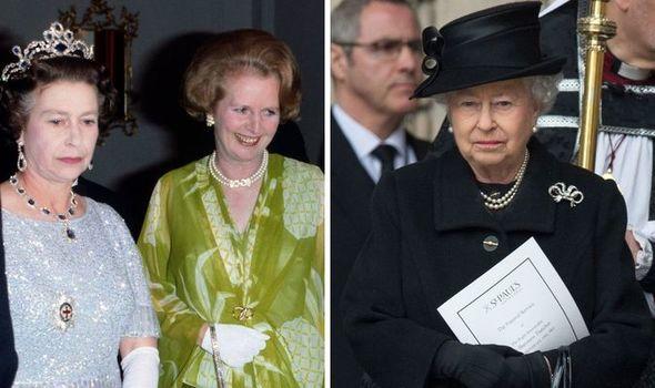 Queen and Margaret Thatcher