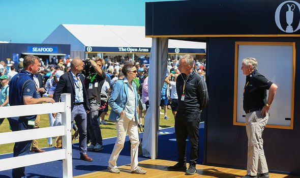 Royal visit: Anne pictured at the 149th Open in Kent earlier this month