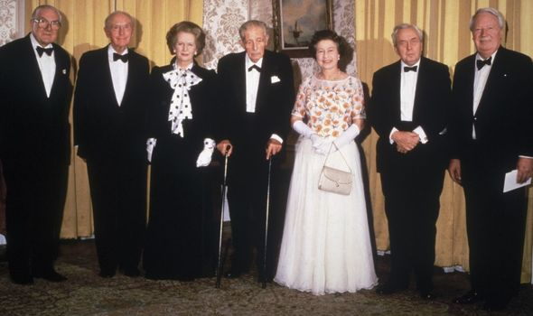 The Queen with six Prime Ministers.