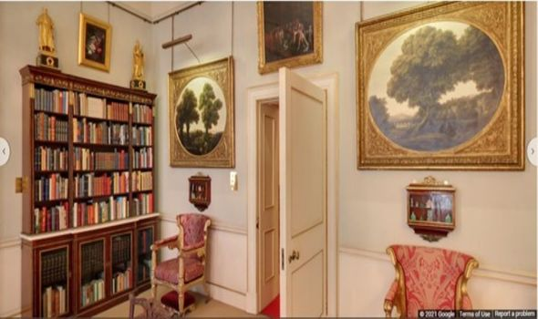 The library at Clarence House