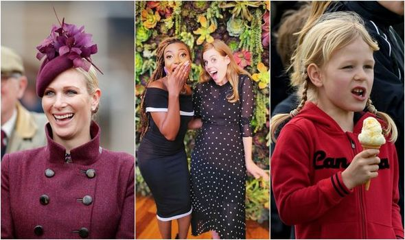 What will Beatrice name her baby? Left - Zara Tindall, Middle - Princess Beatrice, Right - Isla Phillips