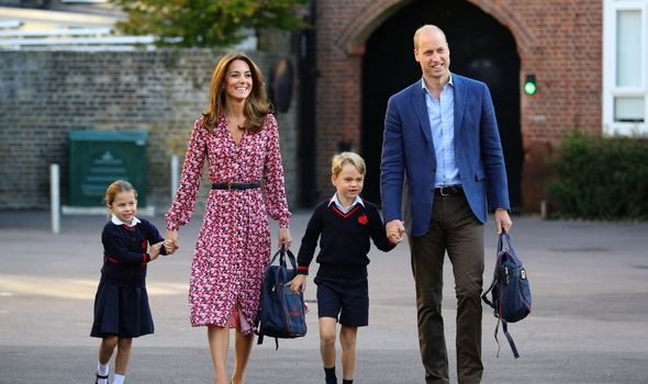 The Cambridges going to school