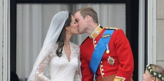 Kate and William kissed twice