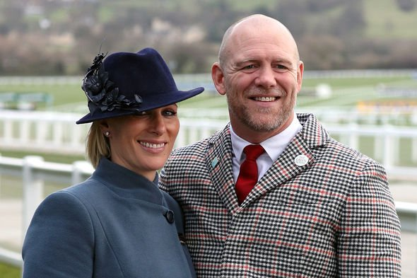 Zara Tindall and Mike Tindall during day three of the Cheltenham Festival at Cheltenham Racecourse 12-Mar-2020