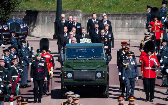 Prince Philip's funeral took place on April 17
