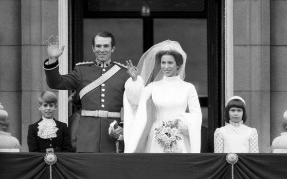 Princess Anne married Captain Mark Phillips