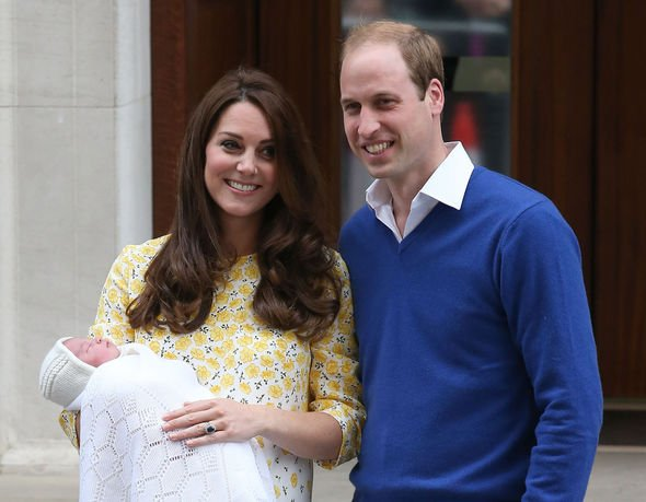 Princess Charlotte title: Kate and William