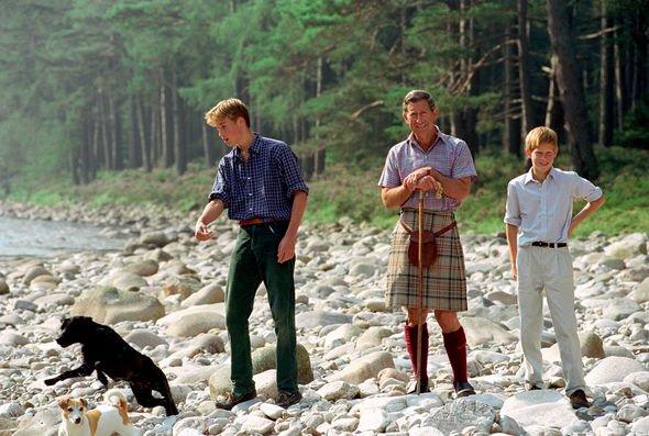 Prince William, Prince Harry and Prince Charles