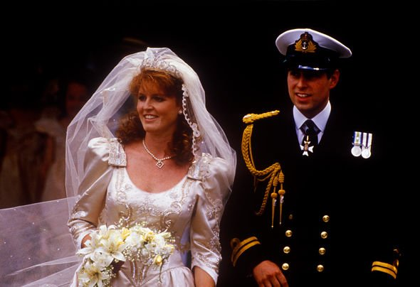 Sarah Ferguson and Prince Andrew wedding day
