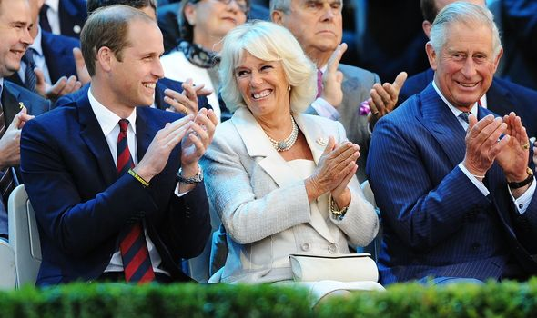 Prince William, Camilla Duchess of Cornwall and Prince Charles