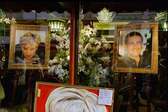 A memorial to Princes Diana and Dodi Fayed