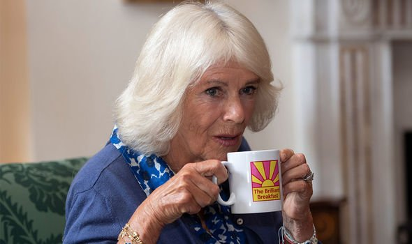 Brilliant Breakfast: Camilla pictured at the event at Clarence House